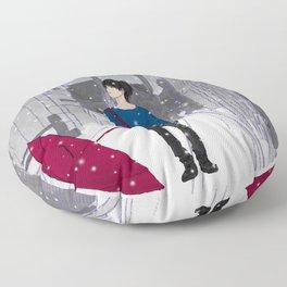 In The Snow Floor Pillow