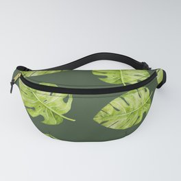Watercolor Flowers Monstera Plant Fanny Pack