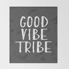 Good Vibe Tribe - Dark Grey Throw Blanket