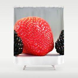 Strawberry Blackberry Shower Curtain