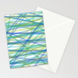 COLORS OF THE OCEAN PATTERN by gail sarasohn Stationery Cards