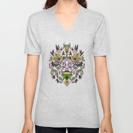 Green Man Unisex V-Neck