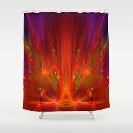 Table firework - terrorist's homeoffice ... Shower Curtain