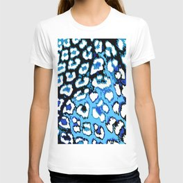 Black and Blue Leopard Spots T-shirt