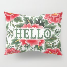 Hello - Vintage Floral Tattoo Collection Pillow Sham