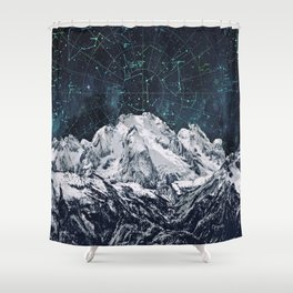 Constellations over the Mountain Shower Curtain