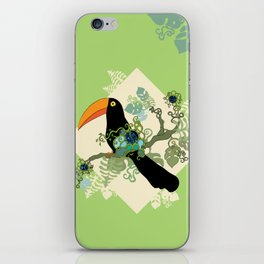 Toucan wondering on branch iPhone Skin