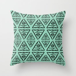 Triangle by Caleb Croy Throw Pillow