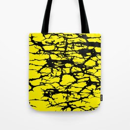 Yellow and Black Interlace Tote Bag