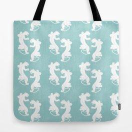 White Panther Tote Bag