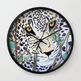 Never Resting - Leopard by Maureen Donovan Wall Clock
