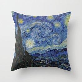 THE STARRY NIGHT - VAN GOGH Throw Pillow