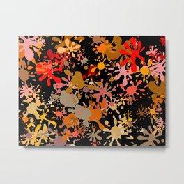 Fun Brown Paint Splats Metal Print
