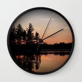 Northern Sunset 002 Wall Clock