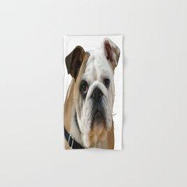 American Bulldog Background Removed Hand & Bath Towel