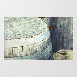 Wooden Barrels and Crates Rug