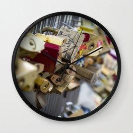 Love Padlock Paris Wall Clock