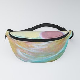 Pink Moon over Turquoise by CheyAnne Sexton Fanny Pack