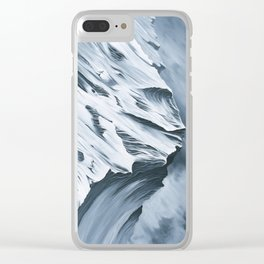 Grey Mountain Clear iPhone Case