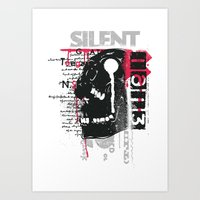 silent Art Prints featuring Silent by Tshirt-Factory