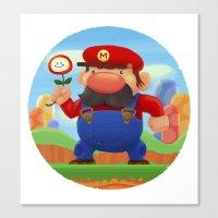 mario Canvas Prints featuring Mario by Gazulo Marquez