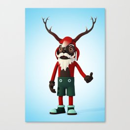Deer Opa Canvas Print