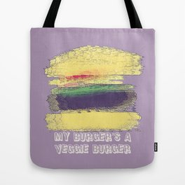Veggie Burger (purple) Tote Bag
