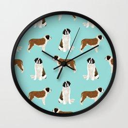 Saint Bernard dog breed pet portrait pure breed unique dogs gifts Wall Clock