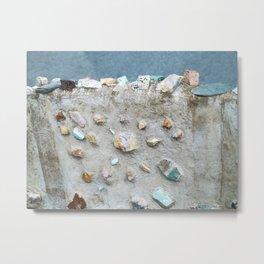 Swedish Stone Wall Metal Print