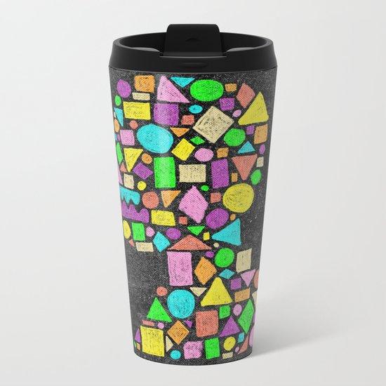 Mosaic Silhouette Metal Travel Mug