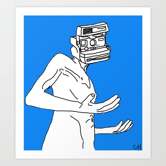 Oh Why the CameraHead Art Print