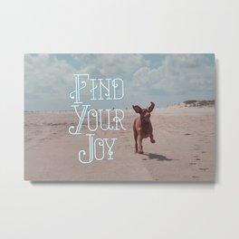 Vizsla Joy Metal Print