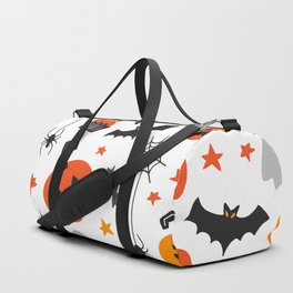 Halloween symbols fall colors pattern Duffle Bag