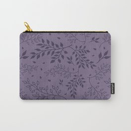 Leaves Illustrated Rum Purple Carry-All Pouch