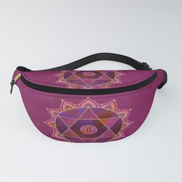 Rich Purpur And Gold Tribal Design Fanny Pack