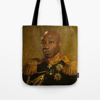 replaceface Tote Bags featuring Michael Clarke Duncan - replaceface by replaceface