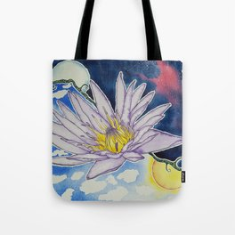 Night and Day Water Lily Tote Bag