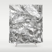 silver Shower Curtains featuring Silver by RK // DESIGN