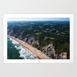 Hidden Beaches of Block Island, Rhode Island - New England's Hidden Gem Art Print