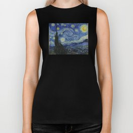The Starry Night by Vincent van Gogh Biker Tank