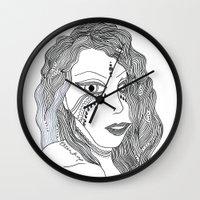 gypsy Wall Clocks featuring Gypsy by Esther Knox