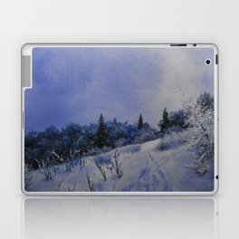 winter first comes in the mountain  Laptop & iPad Skin