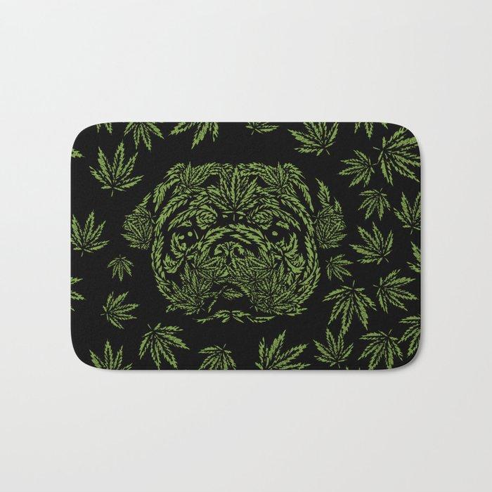 Marijuana of Pug Bath Mat