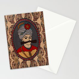 Persian King tapestry( shah abbas) Stationery Cards
