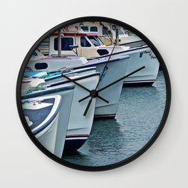 Fishing Boats Wall Clock
