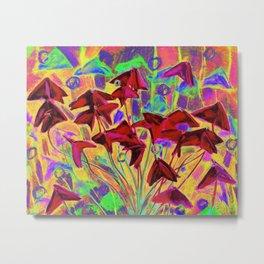 Oxalis psychedelic version Metal Print