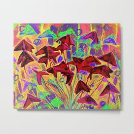 Oxalis psychedelic version Metal Print