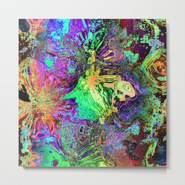 Abstract Chaotic Spectrum Metal Print