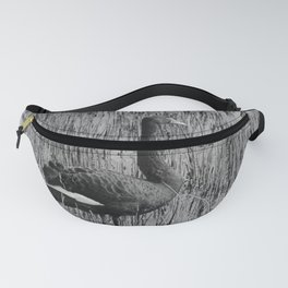 Black Swan 37 bw Donegal Ireland Fanny Pack
