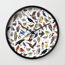 Bird Pattern Wall Clock
